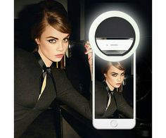 Cilp on 36 LED Selfie Ring Light for cell phone Camera [Foldable wide-angle lens] Rechargeable Battery phone ring light Selfie LED Ring Light for Phone Camera Brightness Selfie Light Led Selfie Ring Light, Led Ring Light, Innovation Models, Ring Lamp, Phone Clip, Police Officer Gifts, Accessoires Iphone, Light Take, Smartphone