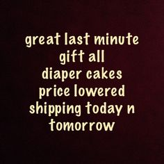 Diaper cakes great gift not just for showers Great Xmas gift Other