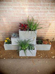 Superbes déco jardin avec des parpaings! 20 idées pour vous inspirer…