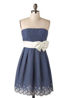 The Tootsie Dress in Blue Raspberry. How many looks does it take to get this sweet strapless dress out of your mind and into your hands?  #modcloth