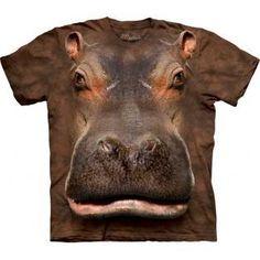 Camiseta Hipopotamo Niño 3D