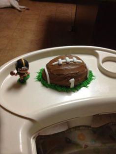 Football smash cake