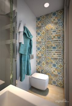Love the tiles on the wall