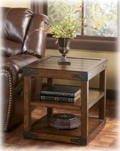 Shop Shepherdsville Traditional Brown Wood End Table with great price, The Classy Home Furniture has the best selection of End Tables to choose from Pallet Furniture, Furniture Projects, Rustic Furniture, Home Projects, Home Furniture, Rustic Nightstand, Garden Furniture, Accent Furniture, Office Furniture