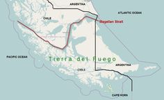 In October 1520, Magellan and his men travelled through what is now called the Strait of Magellan (near Tierra del Fuego). It took them over a month to pass through and in March 1521, the fleet anchored in Guam.