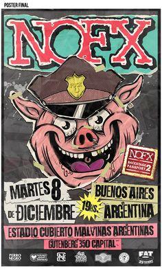 NOFX official gig poster Argentina 2015 on Behance