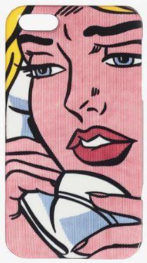 Coque iPhone 5/6 inspirée de l'oeuvre de Roy #Lichtenstein | iPhone 5/6 #backcover inspired by Roy Lichtenstein. electronic #accessories