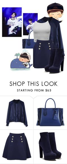 """Lonely Whale - Park Jimin   <(•-•)>"" by butterfly-flutter ❤ liked on Polyvore featuring Chicwish, Longchamp, Tommy Hilfiger, Casadei, calm and bloodsweattears"