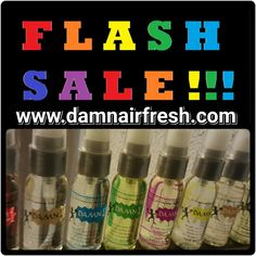 BOGO on your favorite 1 oz or 2 oz Damn Air Freshener scents now online at www.damnairfresh.com.  Offer valid til midnight.