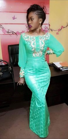 Model de bazin robe pour femme