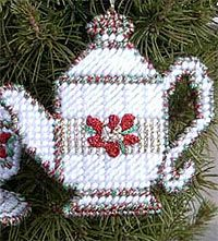 Teapot  Xstitch  Will probably just use this as a regular cross stitch pattern byt the directions do look like it might be 3D