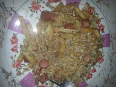 #CookedByMe #Indomie plus #FrenchFries and #sausage