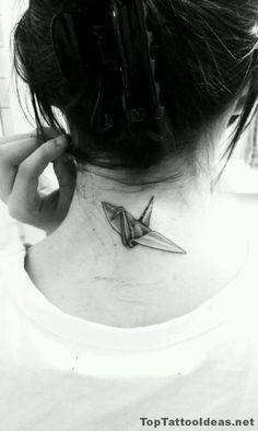 Paper Crane Tattoo Idea