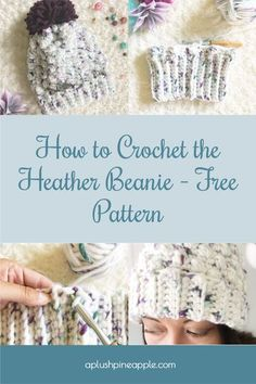 Whip up a chunky textured beanie with this free crochet pattern! #freecrochetpattern #crochetpatternfree #chunkybeanie #chunkycrochetbeanie #crochethat #crochetbeanie #crochethatpattern #crochetbeaniepattern #crochetcrafts #crochetprojects
