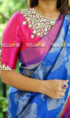 Team it up with your choice of silk. Visit bursana.com for more #silksaree #sareeblouse #blouse