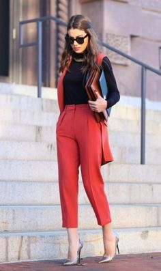 75 Ways to Wear Business Casuals and Look Non-Boring. Rote ModeBusiness  Kleidung DamenBüro ... 22899e052e