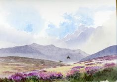 For a number of years I have been president of Powys Area Ramblers - part of the Ramblers' Association, which I joined over 20 years ago. Watercolor Sky, Watercolor Sketchbook, Watercolor Landscape, Watercolor Illustration, Watercolor Paintings For Beginners, Watercolor Pictures, Watercolour Tutorials, Watercolour Paintings, Watercolours