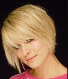 Hair bob blonde short