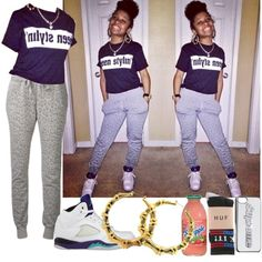 AmourJayda #83 by babygyal09 on Polyvore featuring HUF and NIKE
