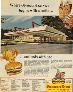 Nice Clean Burger King......      ( in the 1960's !!)