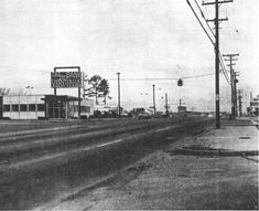 Broad Street looking west at Staples Mill, 1955