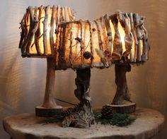 Настольные лампы из коряг в эко-стиле / Driftwood