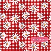 Gingham Girls Red Daisy Yardage SKU# C5901-RED