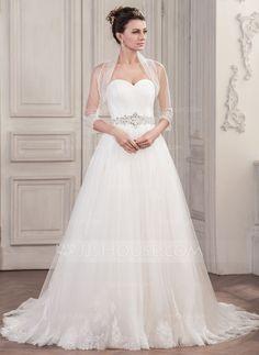 Half-Sleeve Tulle Wedding Wrap (013061278)