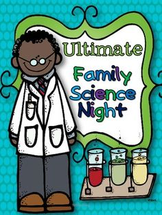 ULTIMATE FAMILY SCIENCE NIGHT - Only the most awesome experience with QR code explanations and recording sheets! Good idea to make it interactive. Many possibilities.