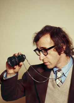 Woody Allen on the set of Everything You Always Wanted to Know About Sex but Were Afraid to Ask, 1972