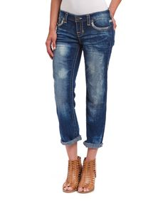 Another great find on #zulily! Big Star Blue Liv Crop Skinny Jeans by Big Star #zulilyfinds