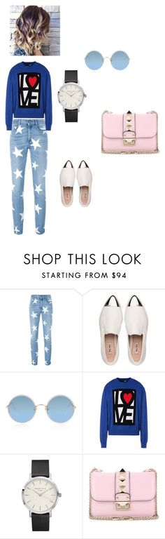 """""""relax outfit"""" by seldy-enes ❤ liked on Polyvore featuring STELLA McCARTNEY, Miu Miu, Sunday Somewhere, Love Moschino, Valentino, romwe, polyvorecontest and shein"""