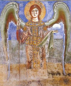 St Michael, as depicted in Sant'Angelo in Formis (Italy)