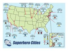 DC Superhero Cities