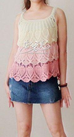 For instructions, click here:  http://ergahandmade.blogspot.gr/2015/06/crochet-stitches.html  Via:  http://woman7.ru/r...