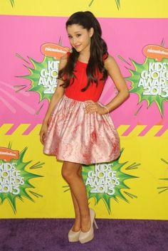 Ariana Grande Out and About!Ariana Grande balances on some seriously high heels at Nickelodeon's 26th Annual Kids' Choice Awards. Photo: JPI