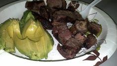Day 9 snack: steak & 1/2 avocado