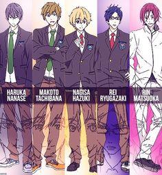 Free! Iwatobi Swim Club Characters