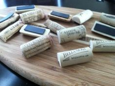 Wine Cork Magnets | Delicious DIY
