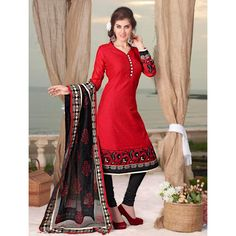 Party Wear Readymade Red Salwar Suit - 79813