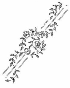 Awesome Most Popular Embroidery Patterns Ideas. Most Popular Embroidery Patterns Ideas. Border Embroidery Designs, Floral Embroidery Patterns, Learn Embroidery, Silk Ribbon Embroidery, Hand Embroidery Patterns, Embroidery Stitches, Machine Embroidery, Bordado Popular, Doodle Borders