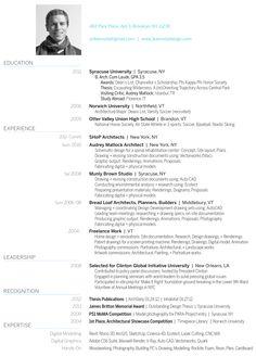 CURRICULUM VITAE - Architecture + Design Portfolio