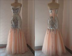 New Sequins Lace Mermaid Prom Dresses Long Party Evening Formal Gowns 2013