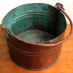 Rustic Copper Bucket now featured on Fab.