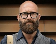 Bald Men With Beards, Bald With Beard, Great Beards, Hairy Men, Bearded Men, Bald Man With Glasses, Mens Glasses, Viking Beard Styles, Hair And Beard Styles