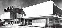 Entrada principal, Clinica Hospital del IMSS (hoy Hospital General del IMSS, Zona 1), Coatancito 20, Centro, Tapachula, Chiapas, México 1966 Arq. Joaquín Sánchez Hidalgo - Main entrance, IMSS Clinca Hospital (today, IMSS Genral Hospital, Zone 1) Coatancito 20, Centro, Tapachula, Chiapas, Mexico 1966