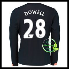 Fotballdrakter Everton Langermet DOWELL #28 Bortedraktsett 2016-2017 Everton, Graphic Sweatshirt, T Shirt, Premier League, Sweatshirts, Long Sleeve, Sleeves, Sweaters, Mens Tops