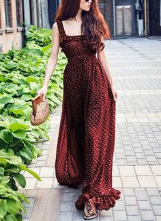 Retro Chiffon Printed Spaghetti-neck Backless Floor Maxi Dress – Boholady - Retro Chiffon Printed Spaghetti-neck Backless Floor Maxi Dress – Boholady Source by - Elegant Dresses, Nice Dresses, Casual Dresses, Fashion Dresses, Maxi Dresses, Awesome Dresses, Formal Outfits, Beautiful Dress Designs, Beautiful Dresses