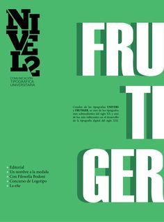 Publicación. Revista tipográfica a 2 tintas (tapa)