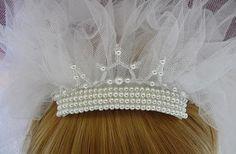 Eloise bespoke wedding veil with pearl beading
